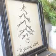 Joyeux Noel Printable for the Holiday season!