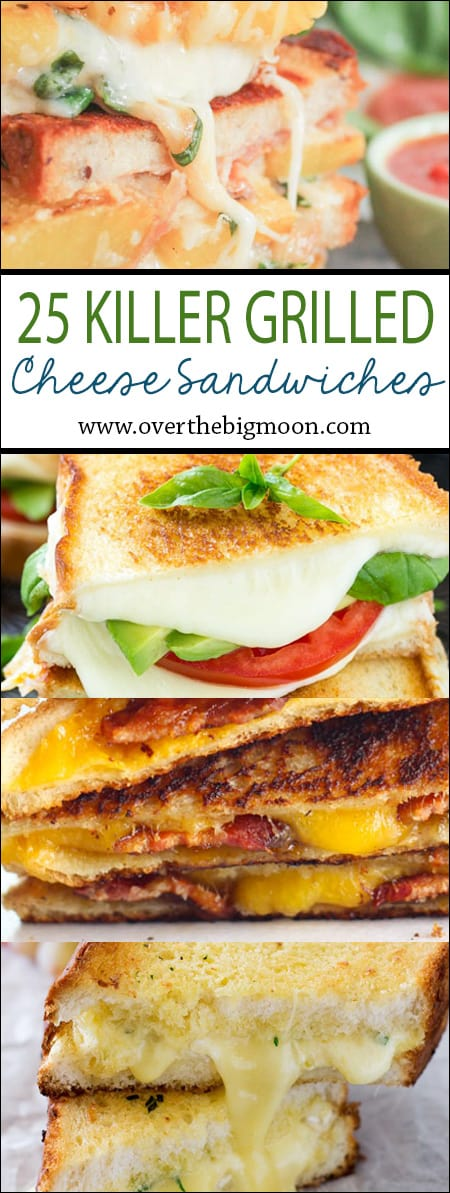 Who doesn't love a grilled cheese? These look amazing - can't wait to try these killer grilled cheese sandwich recipes! From www.overthebigmoon.com!