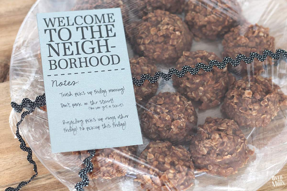 photo about Welcome to the Neighborhood Printable titled Fantastic Peanut Butter No Bake Cookies Fresh new Neighbor