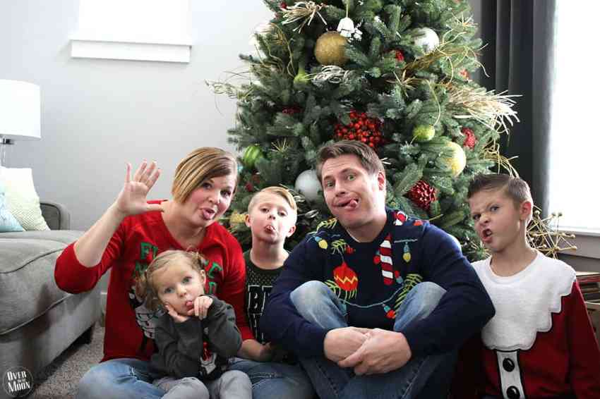 Family Ugly Sweater Party! From overthebigmoon.com!