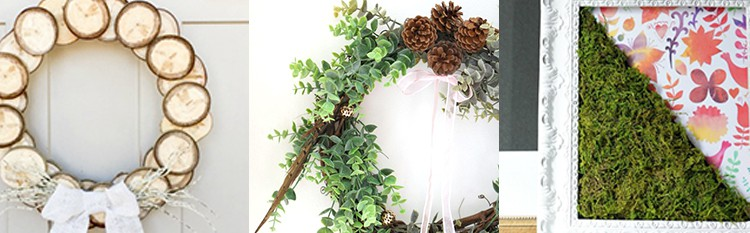 DIY Spring Wreaths and Art from overthebigmoon.com!