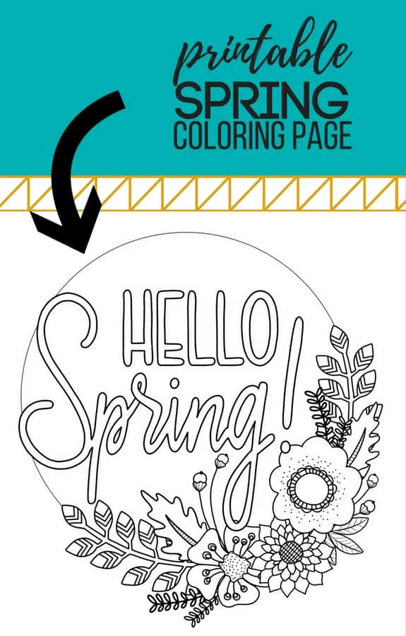 Printable Spring Coloring Page