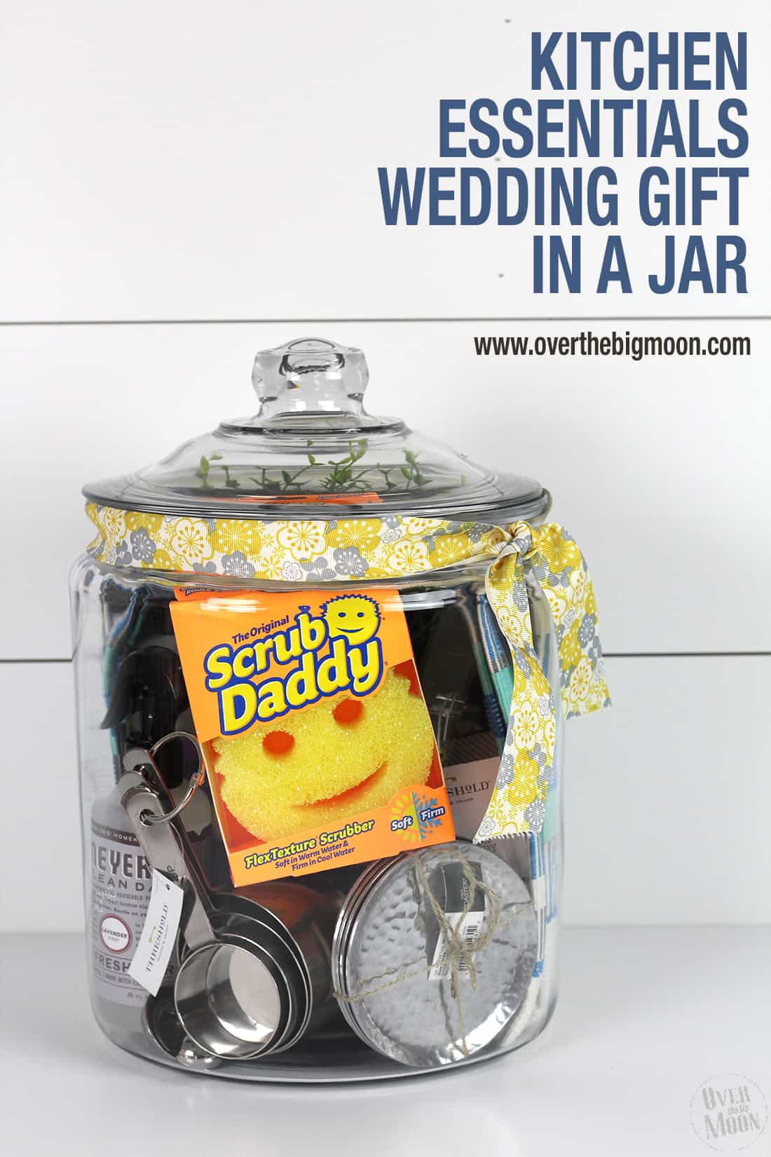 Kitchen Essentials Wedding Gift In A Jar Over The Big Moon