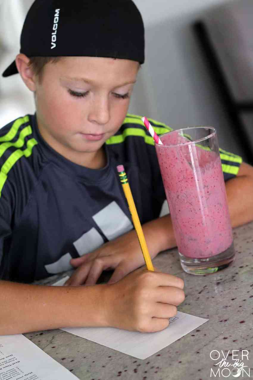 The Perfect Mixed Berry Smoothie - perfect for a after school snack, for breakfast or a way to cool down on a hot day! Check out the full recipe at www.overthebigmoon.com!