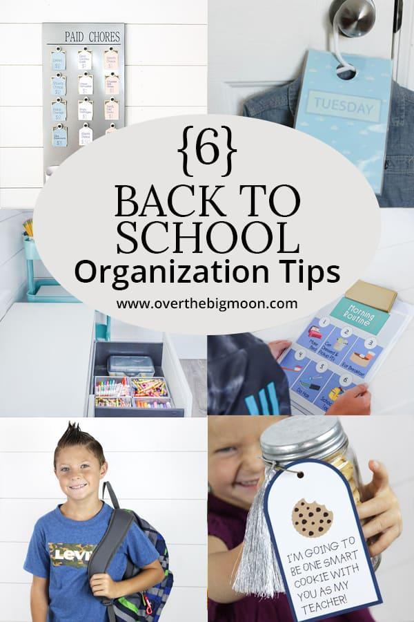 10 Back to School Organization Tips | www.overthebigmoon.com