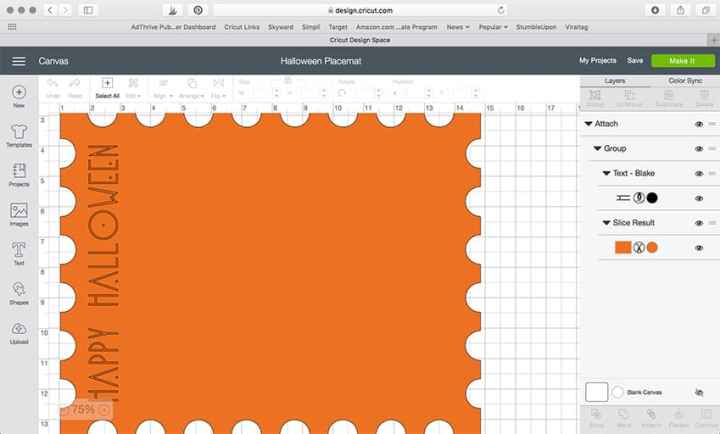 Make these super simple Halloween Poster Board Placemats using your Cricut Maker! From www.overthebigmoon.com!