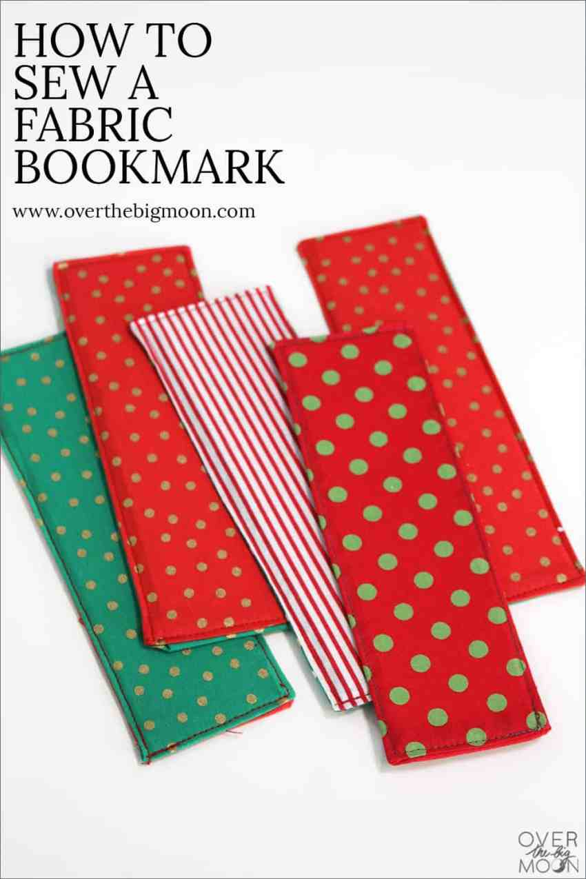 How to Sew a Fabric Bookmark | www.overthebigmoon.com