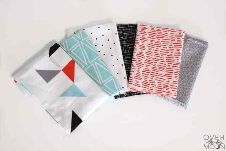 These fabrics are to die for! Turn them into Easy Sew Baby Soft Fabric Blocks. From www.overthebigmoon.com