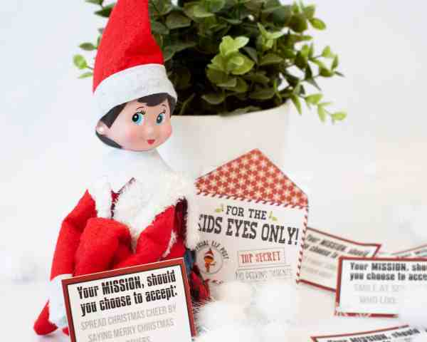Elf on the Shelf Mission Cards and Envelopes! From overthebigmoon.com!