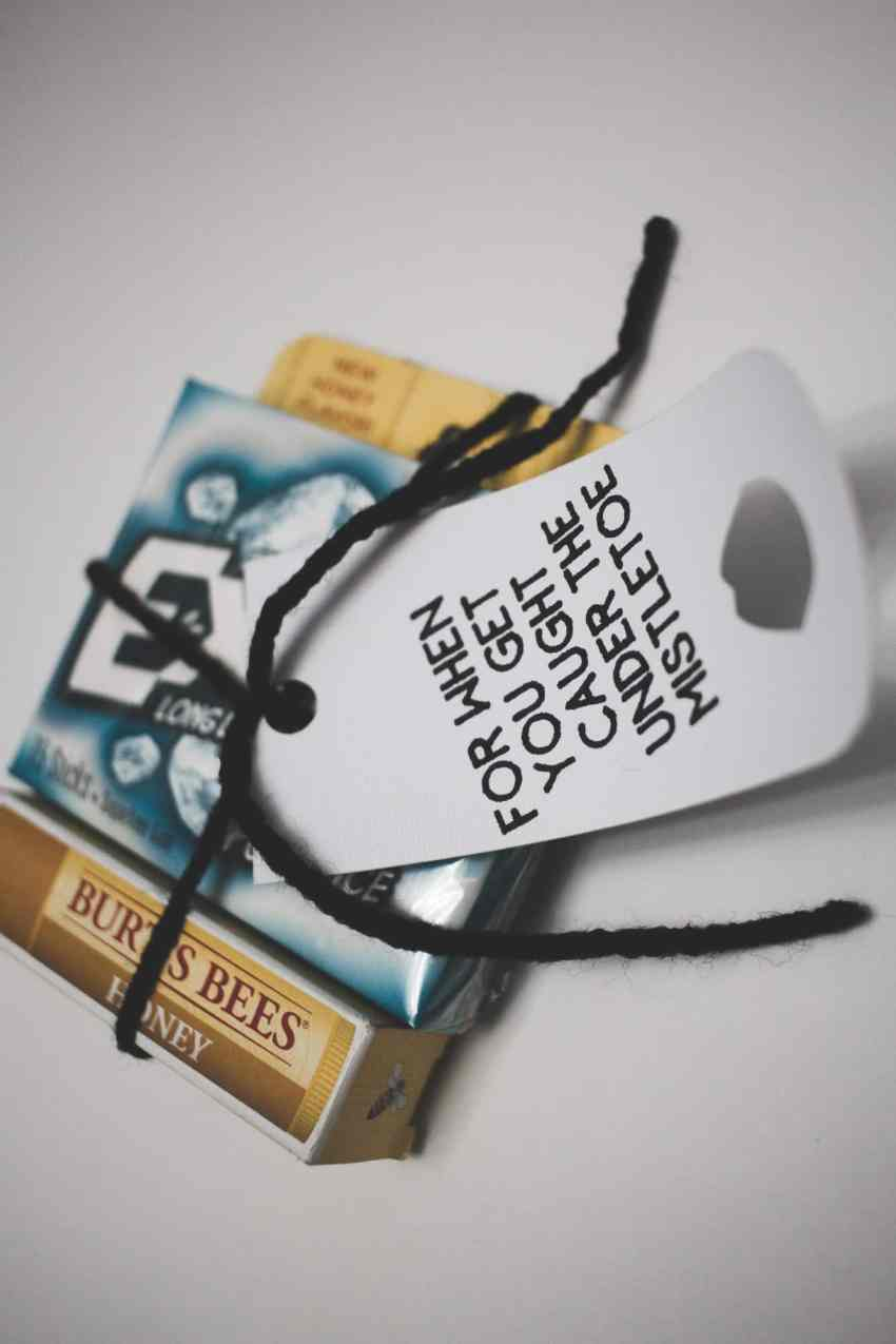 Neighbor gift idea with a cheeky little gift tag that will make your friends smile! Love this practical and simple gift idea.