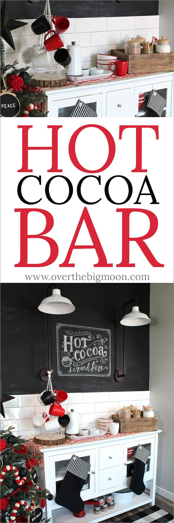 This Hot Cocoa Bar is perfect for a cold winter day! From www.overthebigmoon.com!