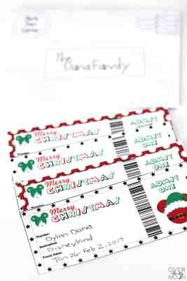 Disneyland Christmas Tickets - the perfect way to gift Disney to your family! From overthebigmoon.com!