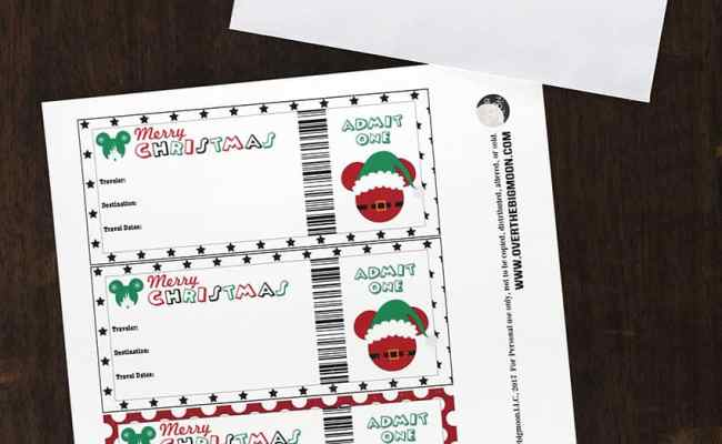 How To Gift Disney To Your Family With Printable Tickets