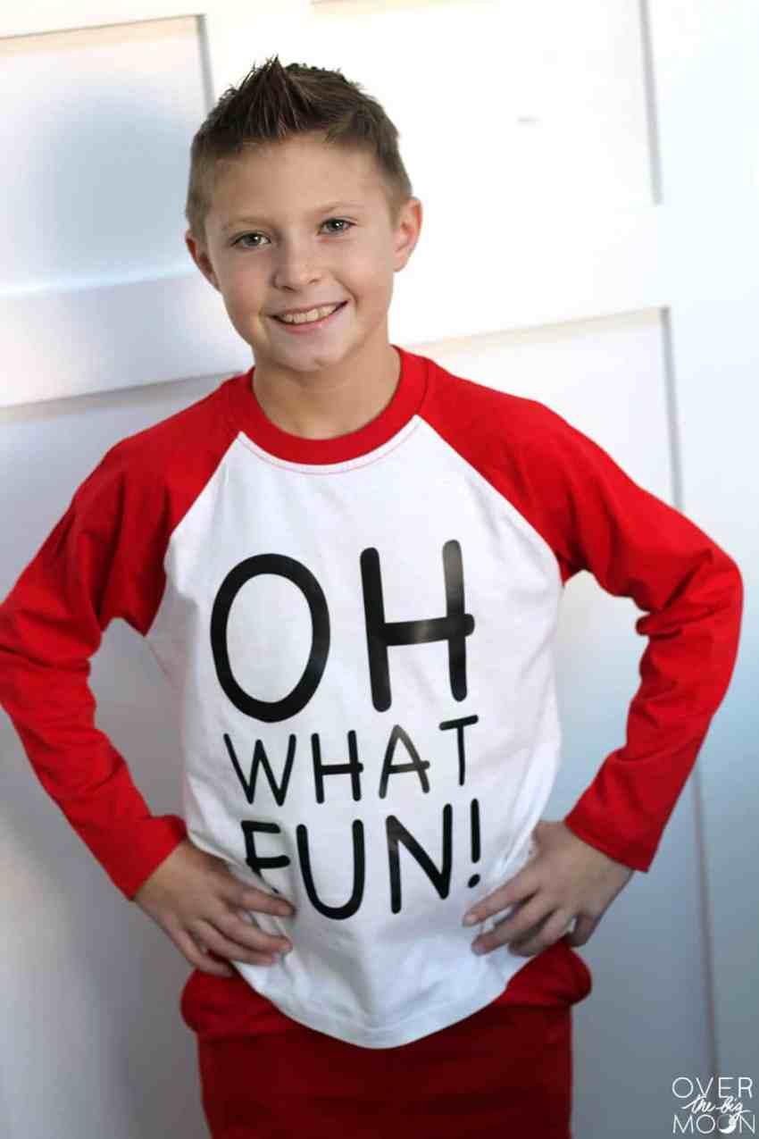 Jingle Bells Christmas Pajamas for kids + other PJ designs! From overthebigmoon.com!