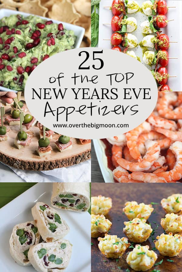 Top 25 Appetizers for your upcoming New Years Eve Party! From overthebigmoon.com!
