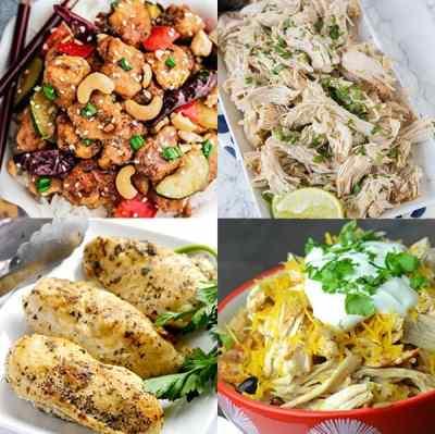 Easy Chicken Instant Pot Recipes - from overthebigmoon.com!