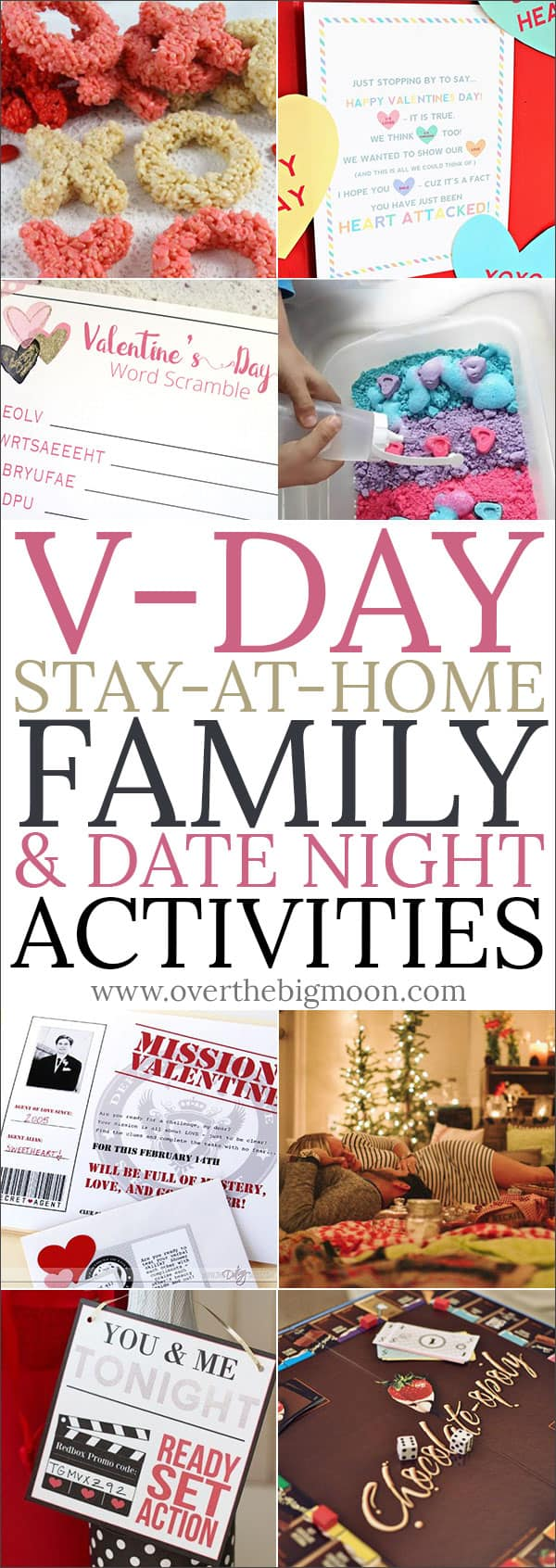 Valentine's Day Stay at Home Family & Date Night Activities from overthebigmoon.com!