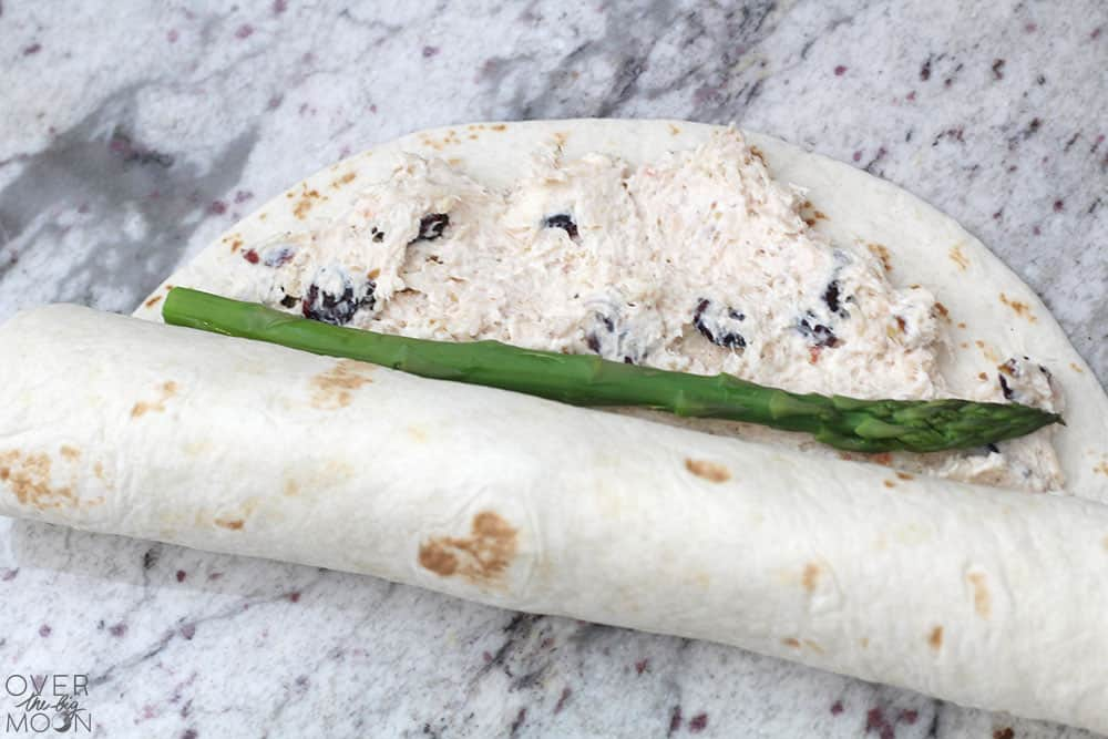 Rollup Appetizer Recipe with Asparagus and Chicken Spread! From overthebigmoon.com!