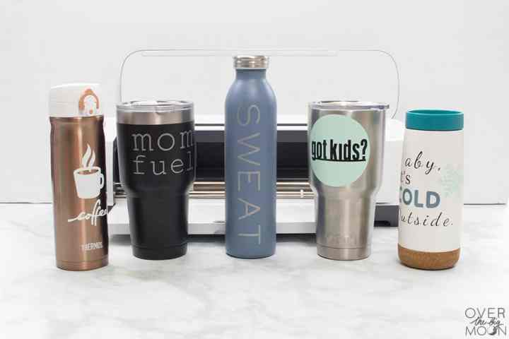 Tumbler Designs for Moms - the perfect way to add some fun personality to your tumbler! From overthebigmoon.com! #vinyl #tumbler #cricutmade #cricut