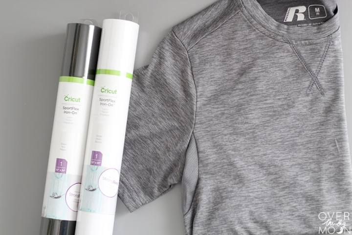 Cricut SportFlex Iron is the perfect Iron On to add to your nylon and polyester clothing! It is lightweight and stretchable! From overthebigmoon.com!