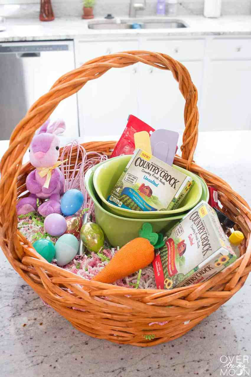 Easter Baking Basket from Country Crock - from overthebigmoon.com!