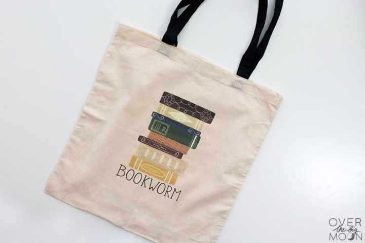 Apply Iron On onto a Tote from overthebigmoon.com!