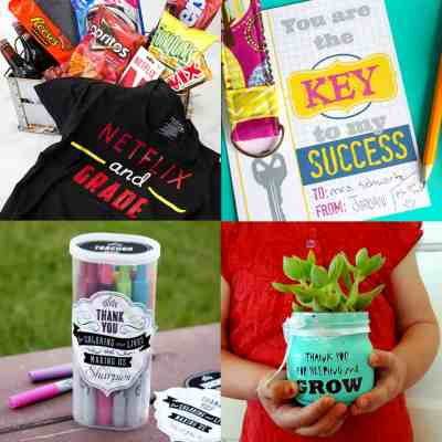Showing our teachers love and appreciation is the least we can do after a long school year! Check out these End of School Year Teacher Gift Ideas to help you find the best way to spoil your kids teachers!