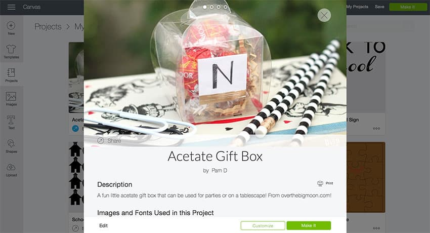 Acetate Gift Box Design Space File from overthebigmoon.com!