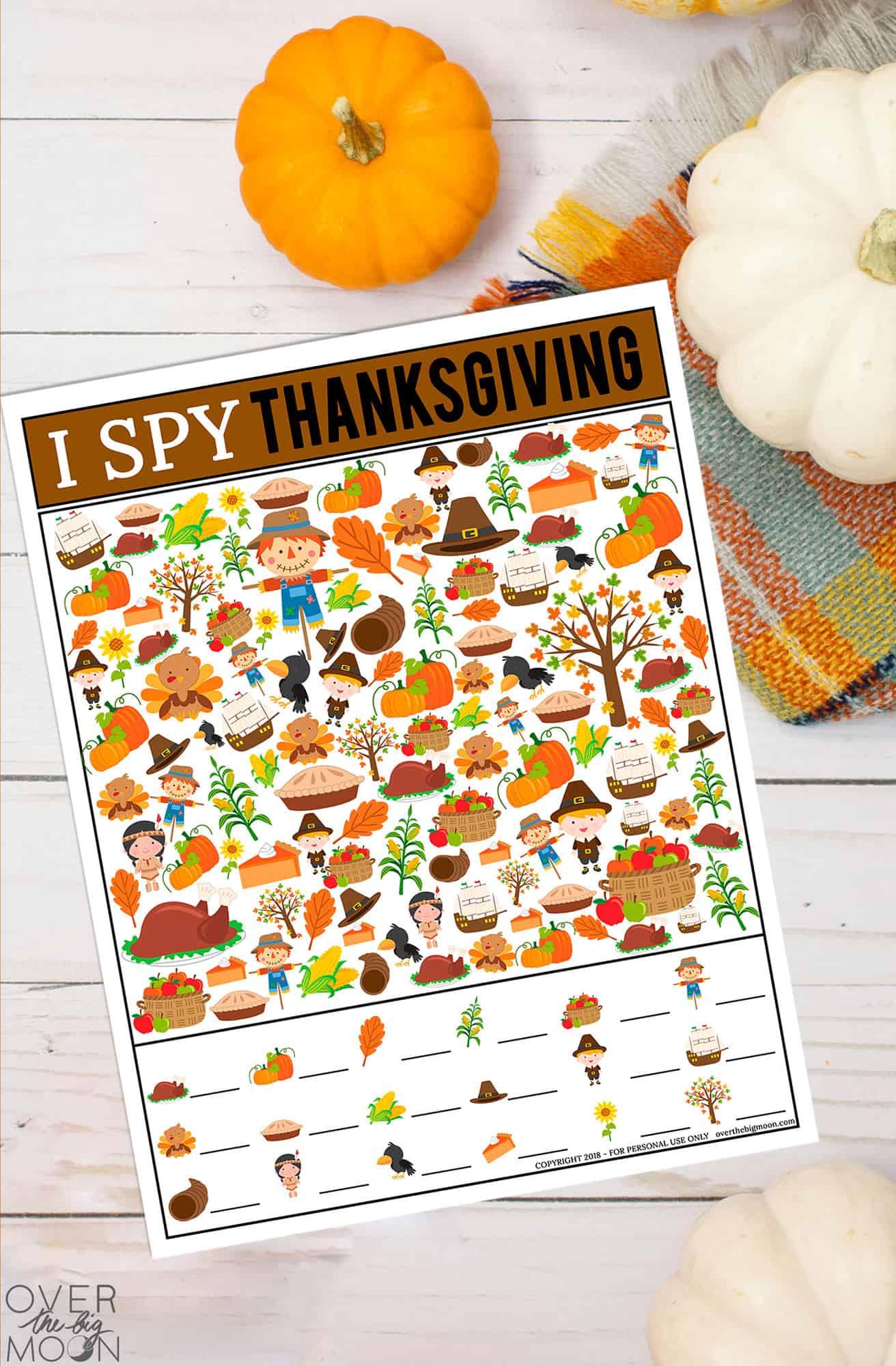 Thanksgiving I Spy Game