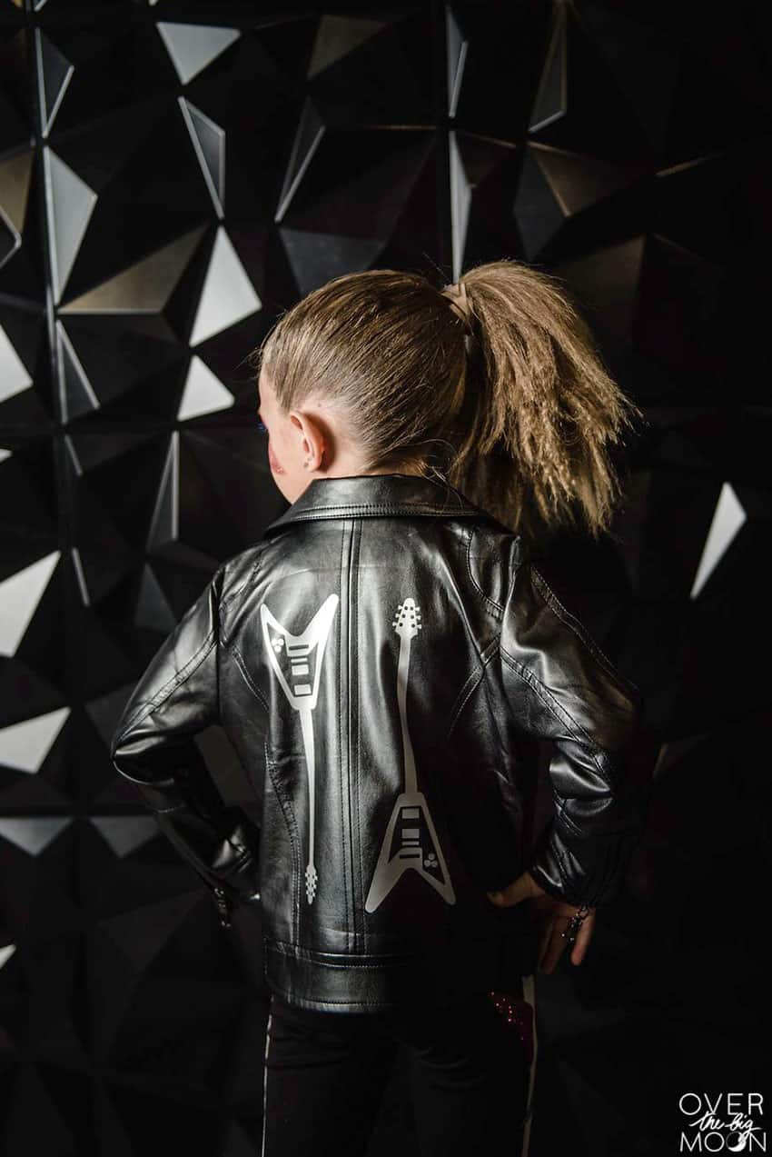 Leather Rock Jacket for a little girl! From overthebigmoon.com!