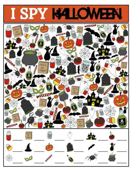 Halloween I Spy Printable Game - from overthebigmoon.com!