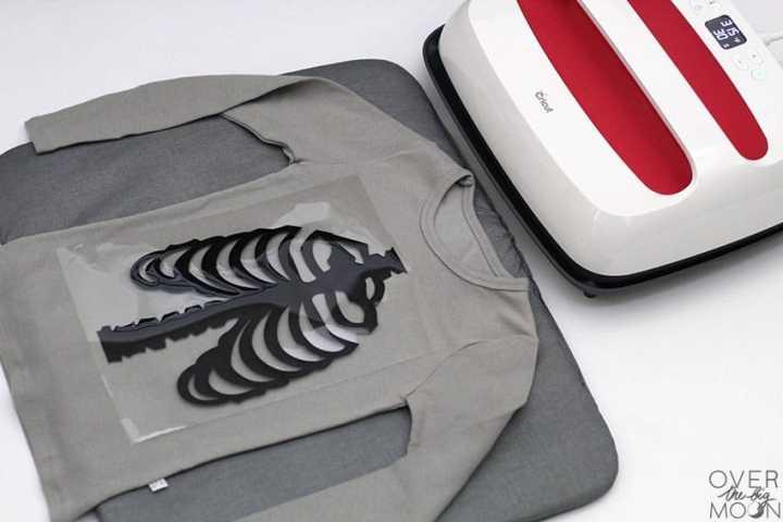 DIY Skeleton Pajamas application technique! From overthebigmoon.com!