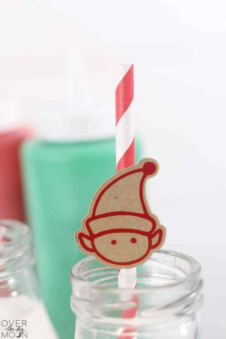 Simple Elf Straw Toppers made with my Cricut machine! From overthebigmoon.com!