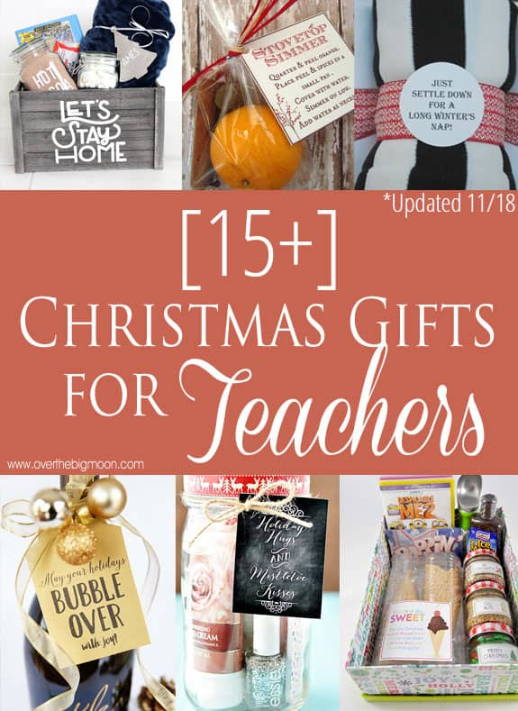Christmas Gifts For Teachers.15 Easy Christmas Gifts For Teachers Over The Big Moon