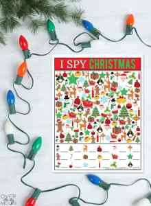 I Spy Christmas Printable Game for kids! The perfect activity for kids during the holidays! From overthebigmoon.com!