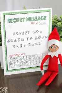 Secret North Pole Message from Santa - have your Elf on the Shelf bring this fun activity back from the North Pole! From overthebigmoon.com!