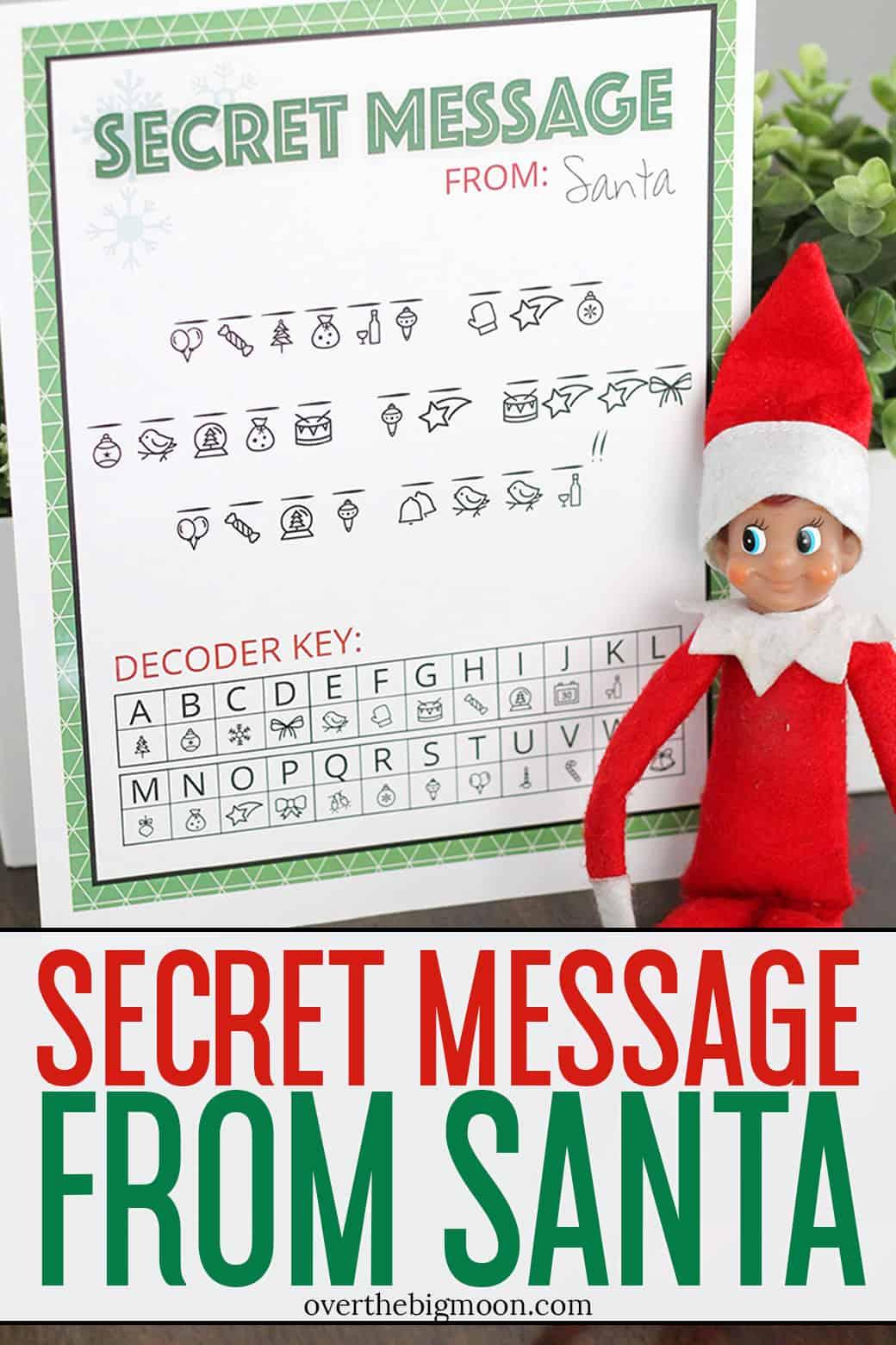 Secret Message From Santa Printable
