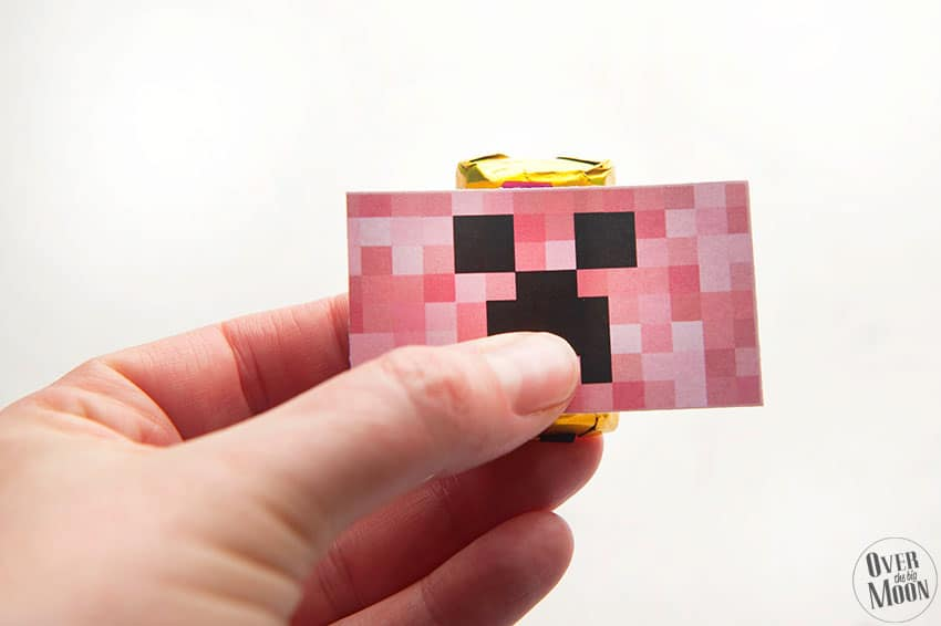 Printed Minecraft Mini Candy Bar Wrappers | overthebigmoon.com