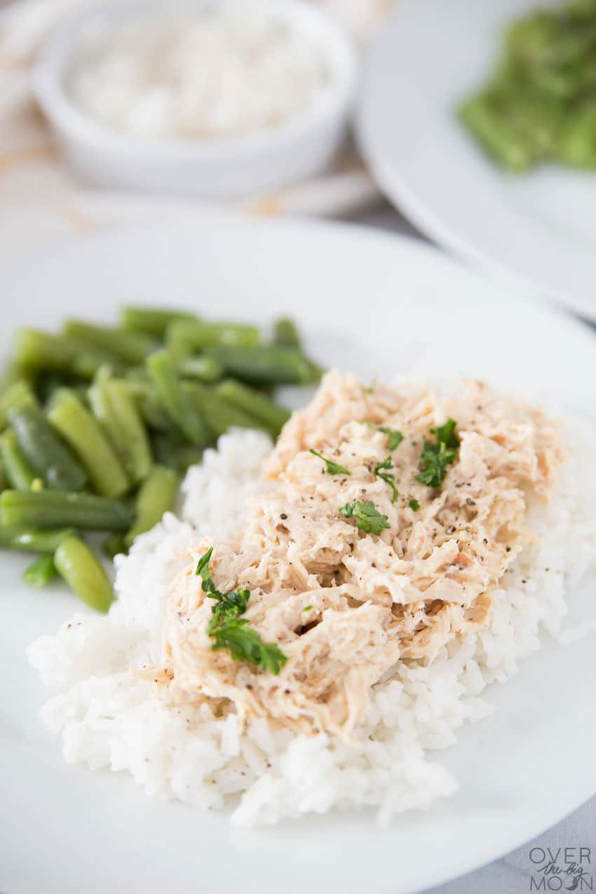 Creamy Italian Chicken Dinner Recipe - made from a freezer meal. From overthebigmoon.com!