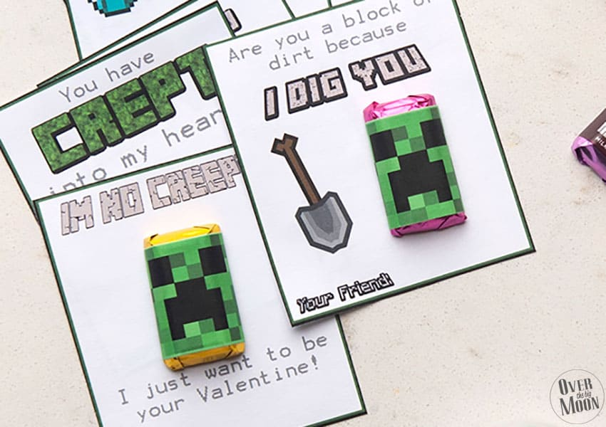 This is a photo of Minecraft Bookmarks Printable intended for downloadable