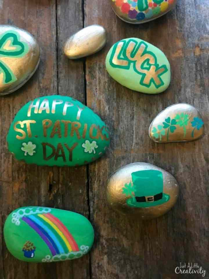 Painted St.Patrick's Day Rocks