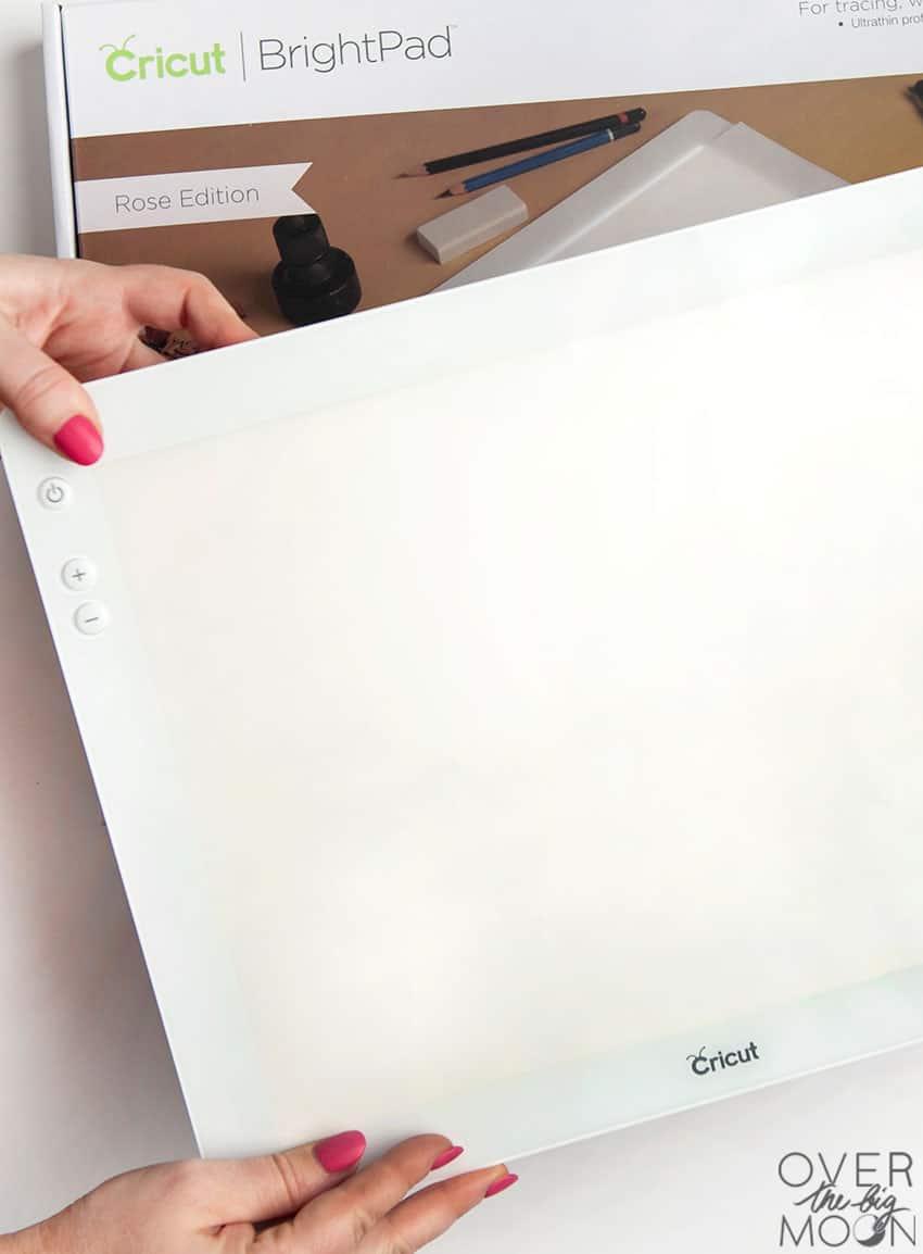 The Cricut BrightPad -- overthebigmoon.com