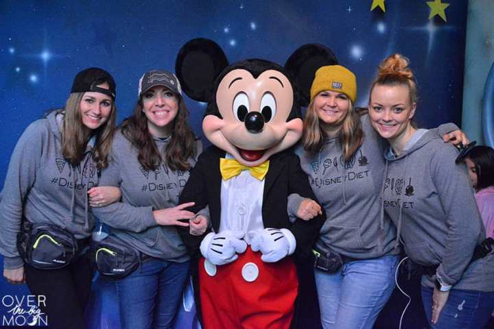 Girls Trip at Disneyland -- picture with Mickey Mouse!