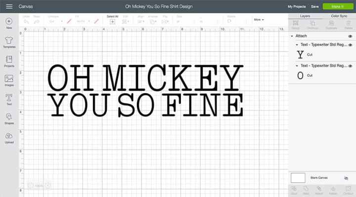 Oh Mickey You So Fine Design Space File
