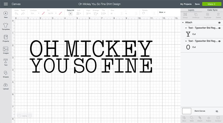 Oh Mickey You So Fine Design Space File