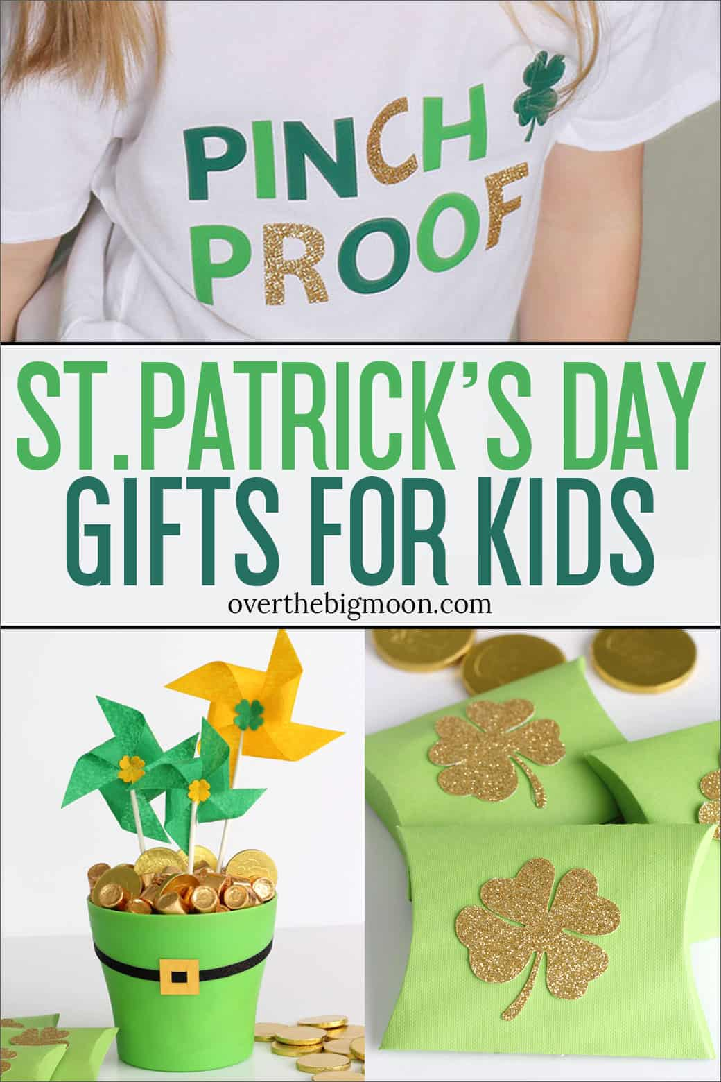 St.Patrick's Day is a super easy holiday to make extra fun! I've got 3 simple gift ideas for your kids! From overthebigmoon.com!