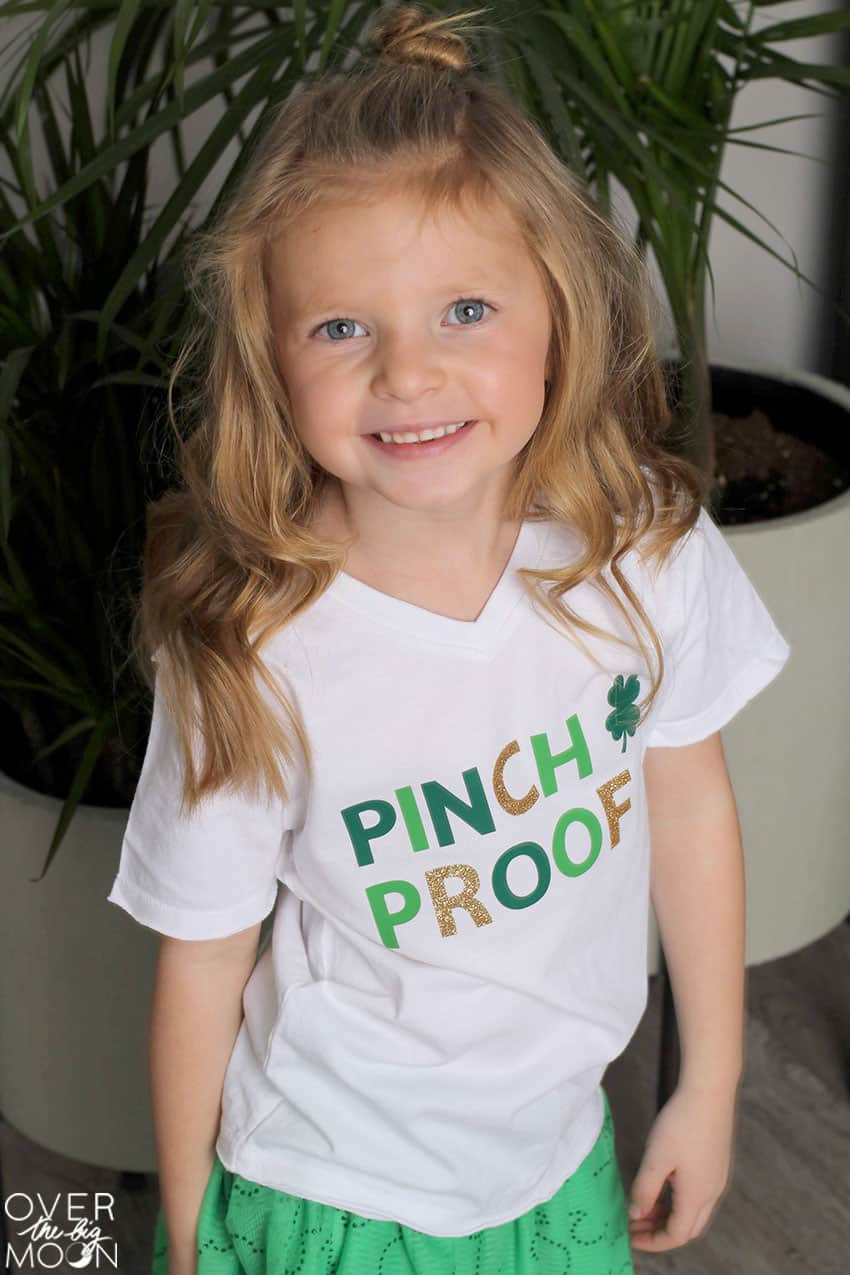 Pinch Proof Green T-Shirt Idea for St. Patrick's Day! From overthebigmoon.com!
