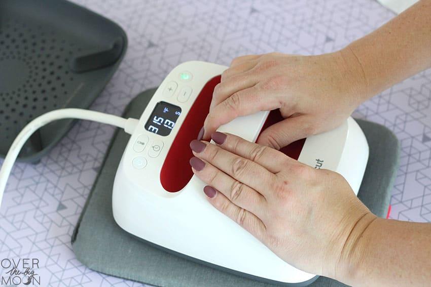 Apply heat to Iron On