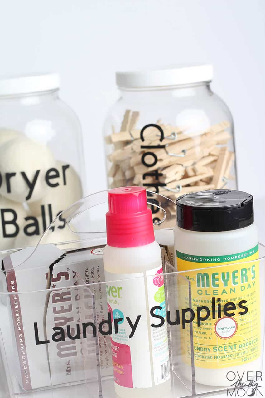 Laundry Organizers with custom labels!