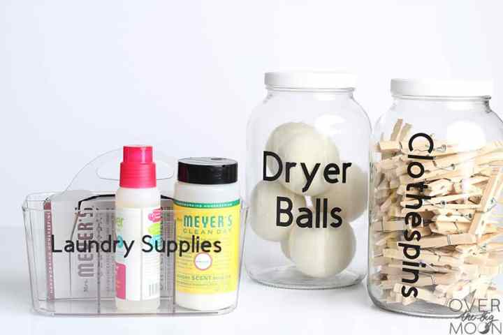 Laundry Room Labels for Jars and Containers!